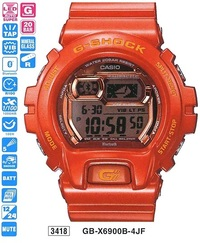 Часы CASIO GB-X6900B-4ER - Дека
