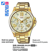 Часы CASIO SHE-3806GD-9AUER - Дека