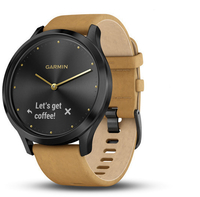 Смарт-часы Garmin Vivomove HR, WW, Premium, Black-Tan, One-size - Дека